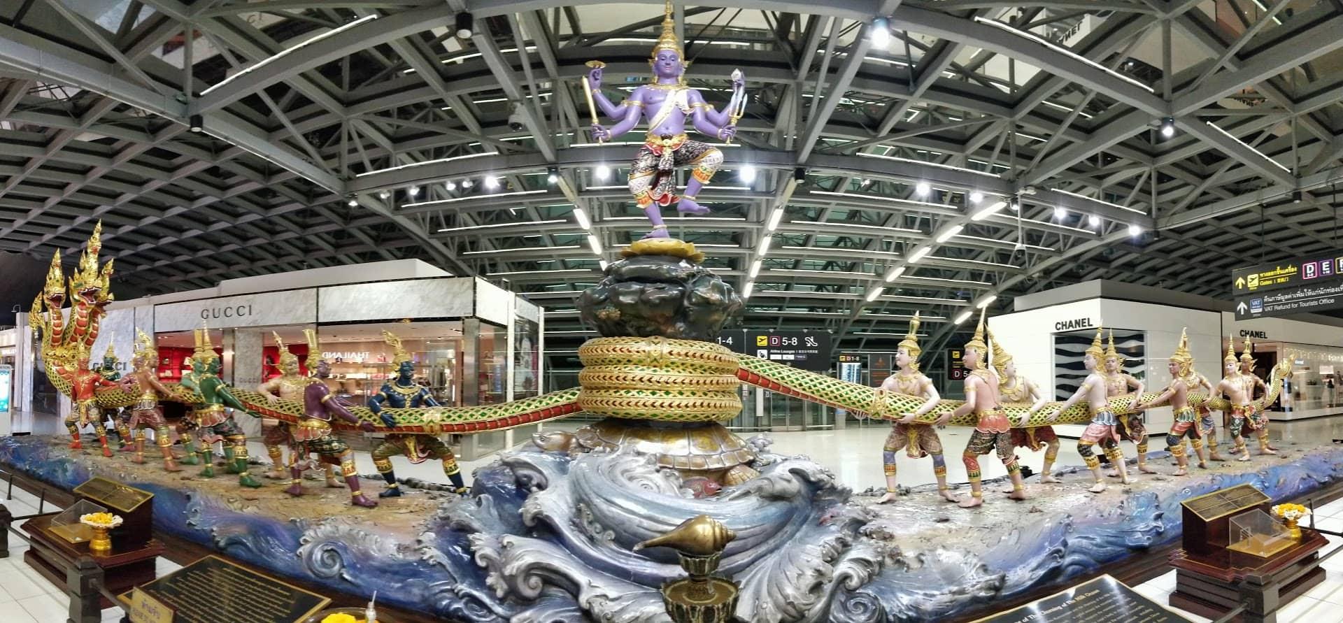 Aeropuerto Internacional Suvarnabhumi, Tailandia.