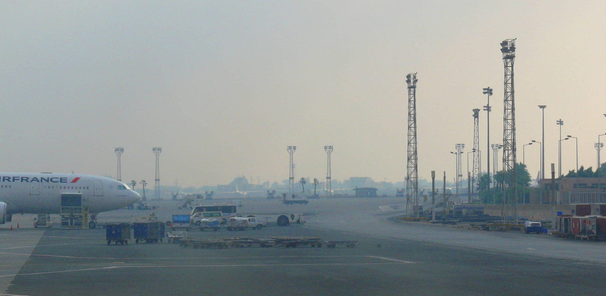 Aeropuerto Internacional de El Cairo, Egipto.