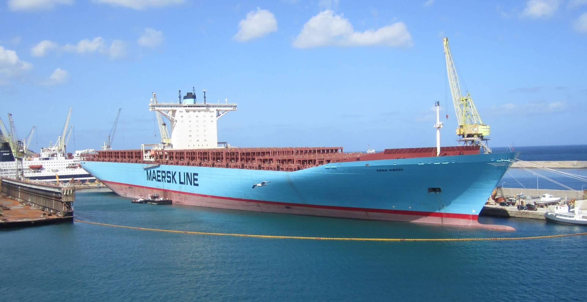 El barco Emma Mærsk, el segundo más grande del mundo