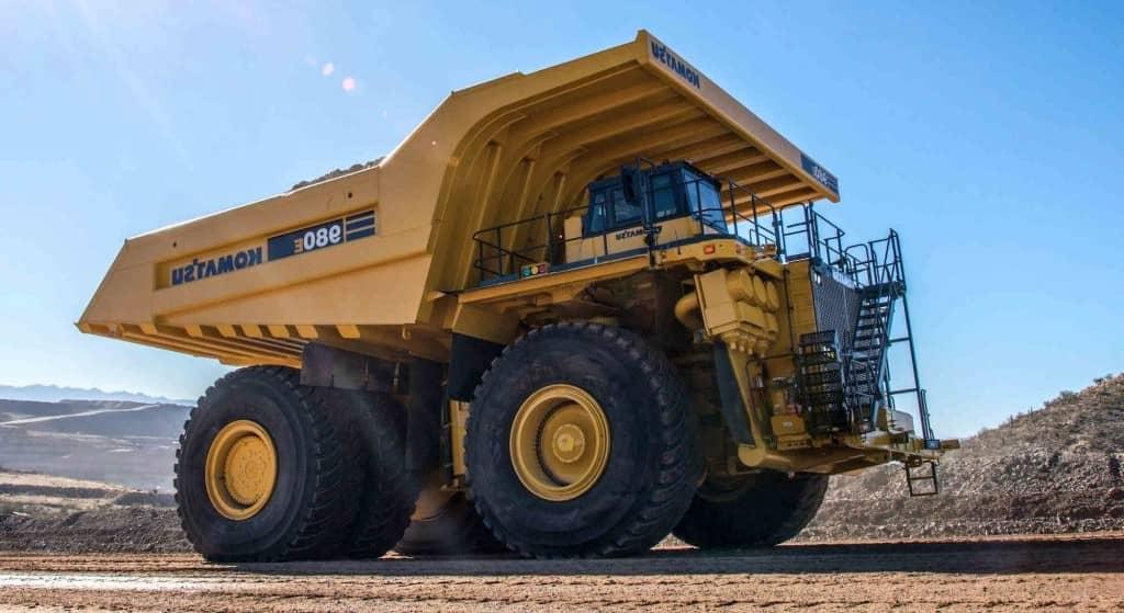 Komatsu 980E-4, el segundo camión más grande del mundo