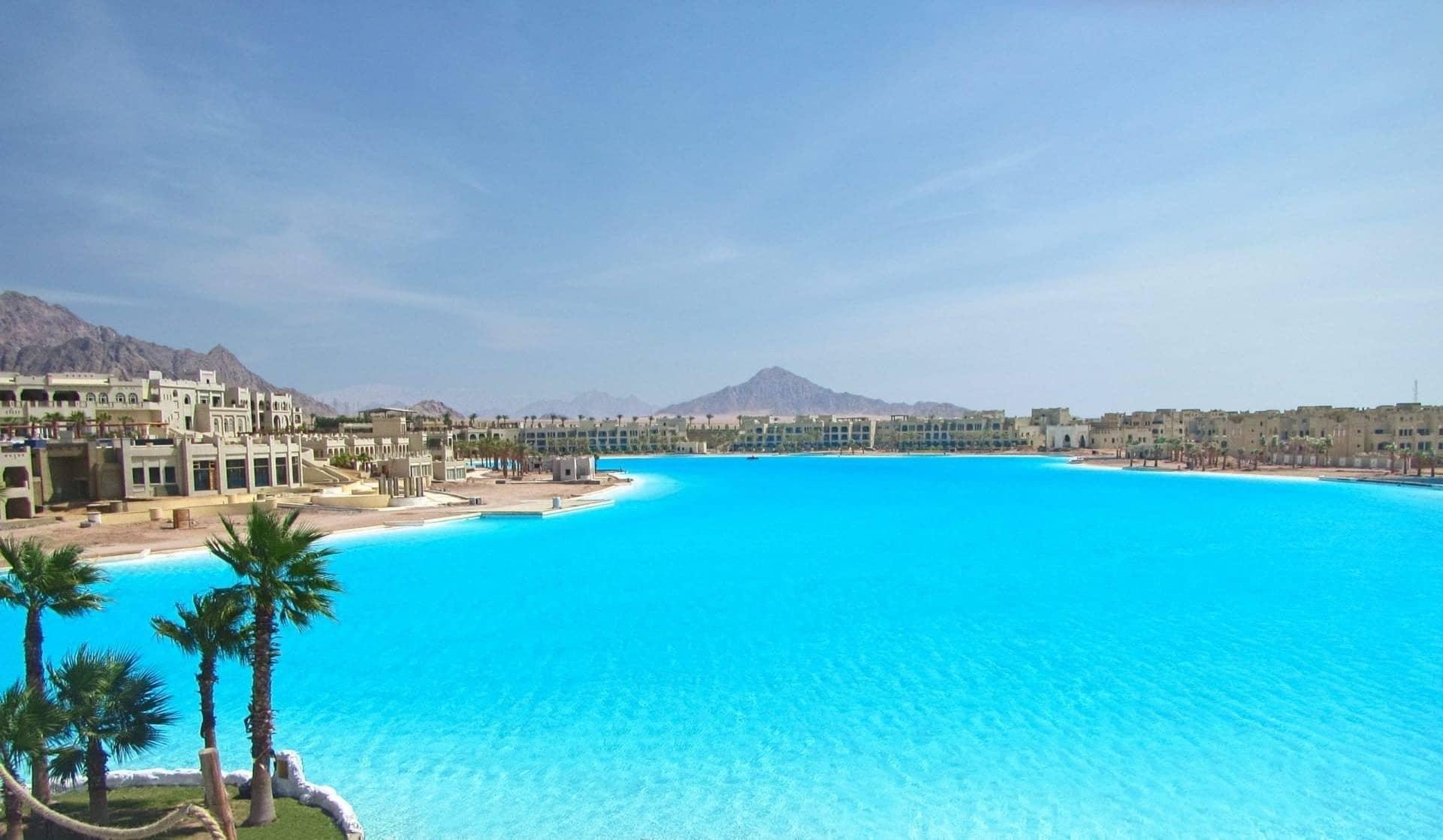 Citystars Sharm El Sheik, una de las piscinas más grandes del mundo.