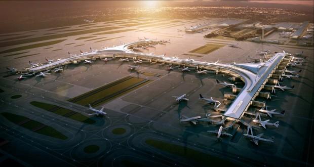 Aeropuerto Internacional Shanghai Pudong, China.