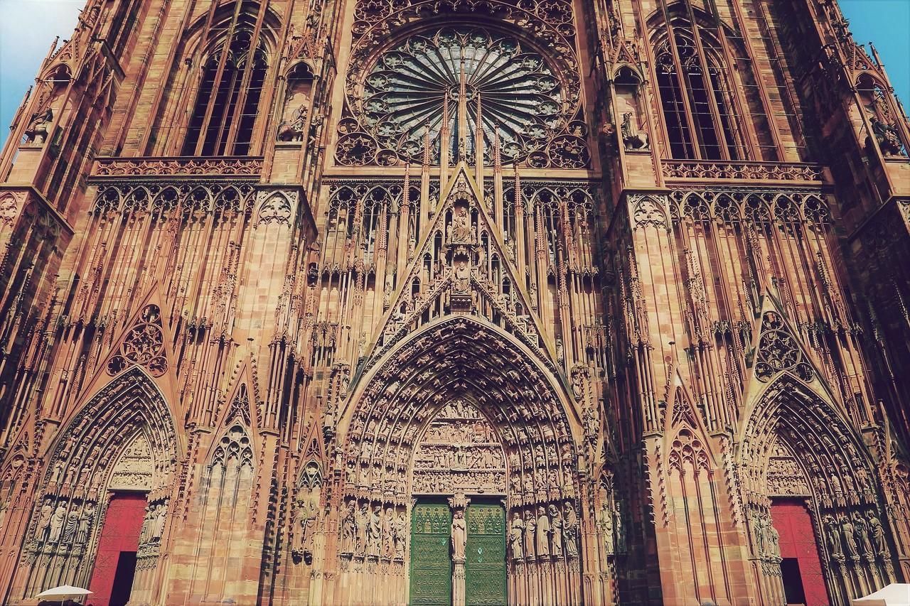 Catedral de Estrasburgo, una de las más grandes de Europa y del mundo