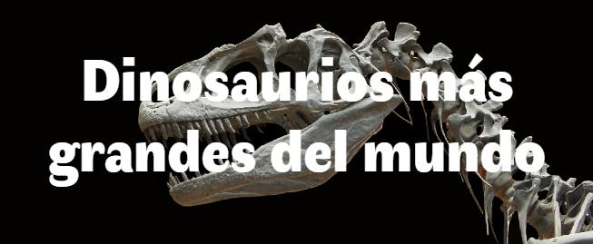 Los 10 dinosaurios más grandes del mundo