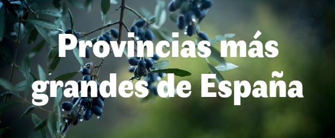 Las 10 provincias más grandes de España