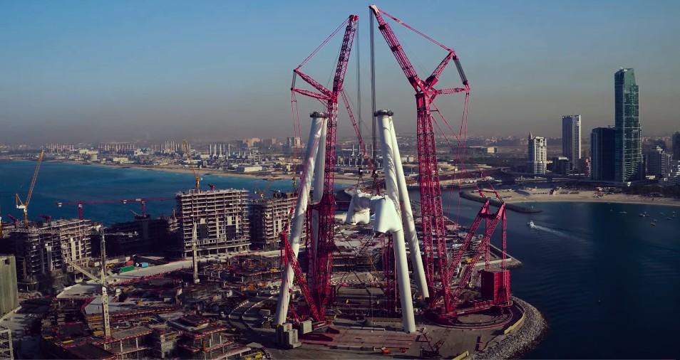 Construcción de la noria más grande del mundo