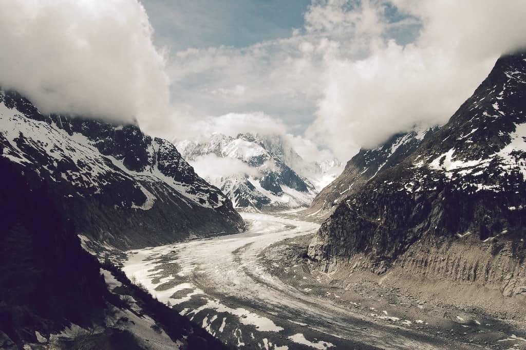 Mer de Glace, el noveno de los glaciares más grandes del mundo
