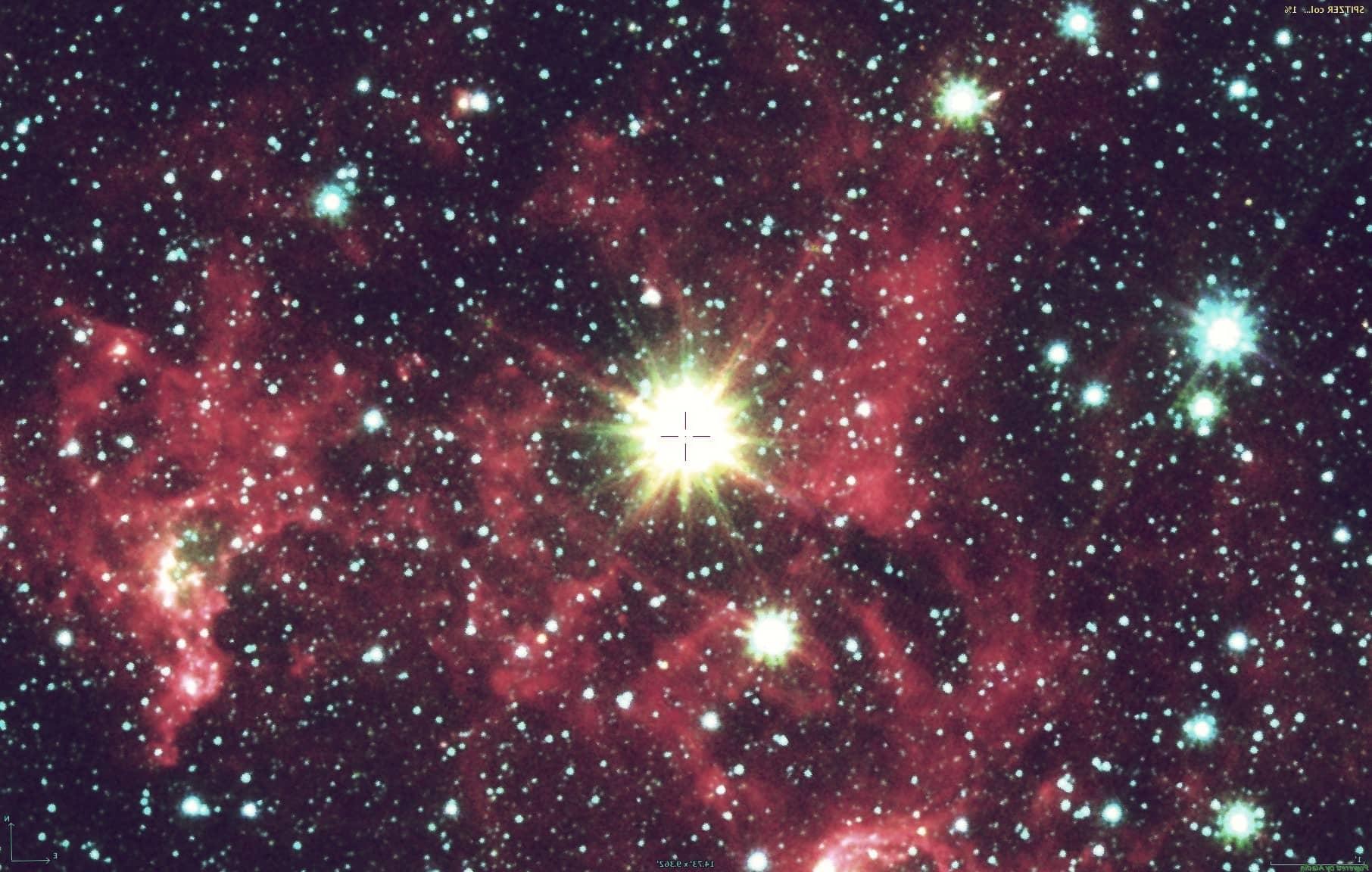 WOH G64, la segunda estrella más grande de la galaxia