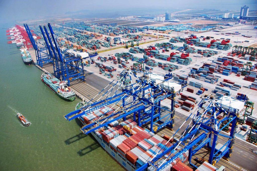Puerto de Guangzhou, uno de los puertos más grandes del mundo